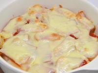 餅とベーコンのチーズ焼き
