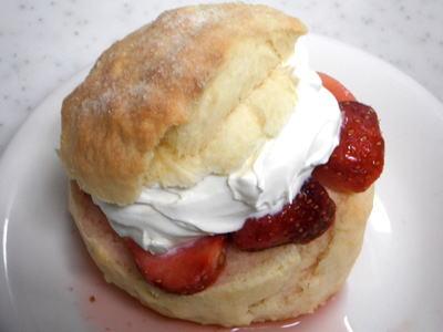 アメリカン 苺のショートケーキ