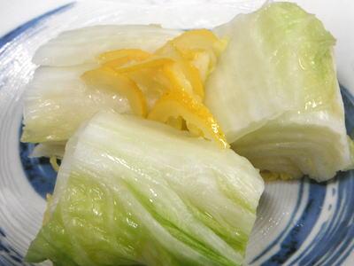白菜の柚子漬け
