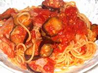 茄子とベーコンのスパゲッティ