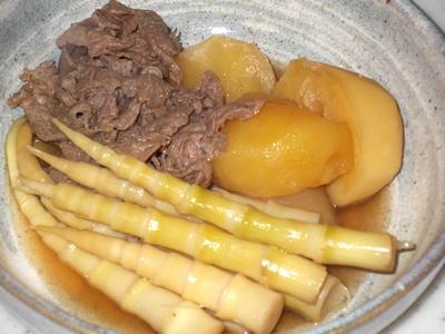 根曲竹の煮物