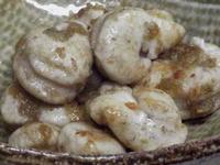 鮭白子のガーリック炒め