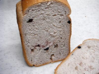 ジャム入り食パン (Wブルーベリーパン)