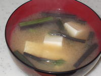 ワラビの味噌汁