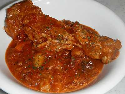 豚スペアリブのトマトソース煮