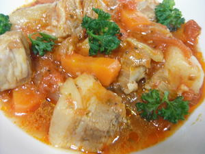 豚バラ肉のトマトソース煮