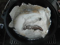 豚たんのダッチオーブン塩釜焼き