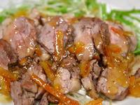 鴨のソテー・マーマレードソース