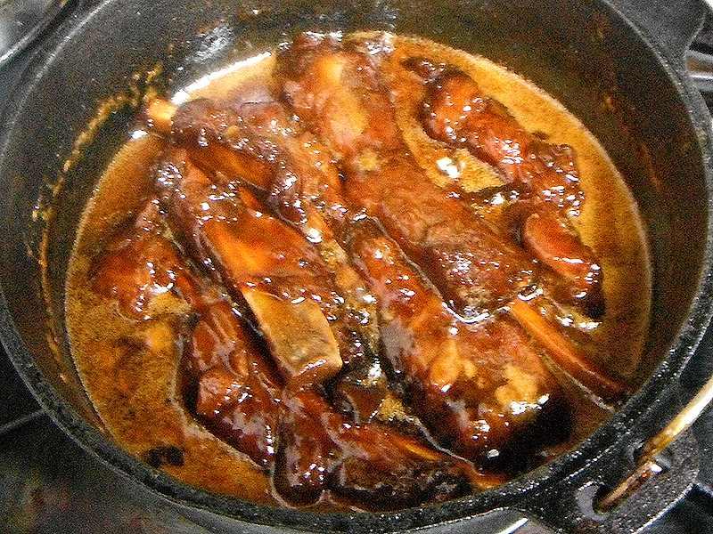 豚スペアリブで作るマーマレード煮