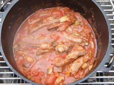 ラムスペアリブのトマト煮