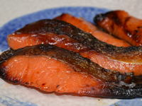 風味豊かな、鮭の粕漬け
