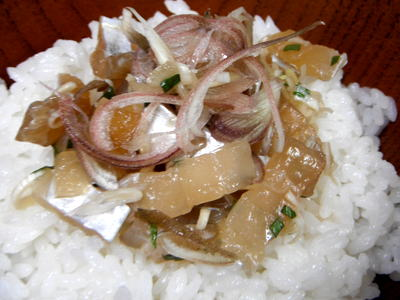 タチウオの漬け丼