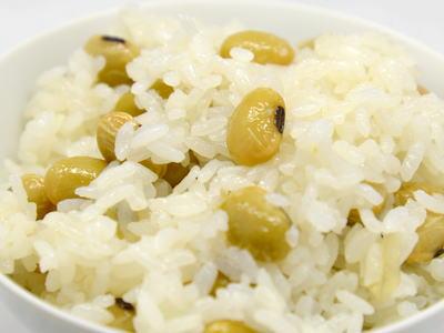 青大豆の炊き込みご飯