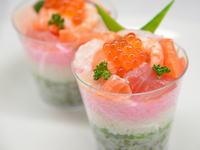 3色カップ寿司