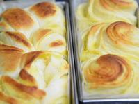 カスタードの折込みパン