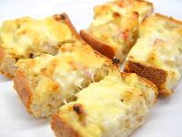 残ったフランスパンとグラタンのコラボ