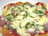 餅で作るピザ