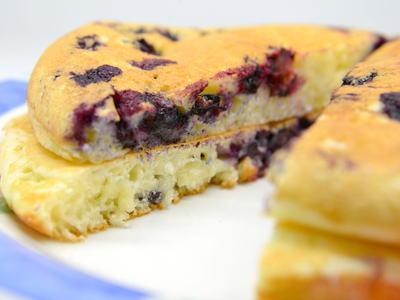 ブルーベリーのパンケーキ