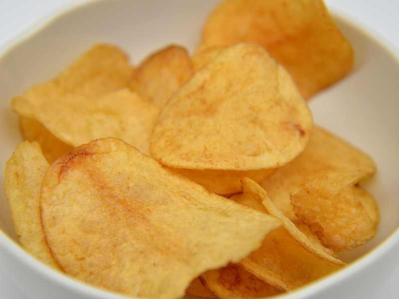 ポテトチップスの燻製