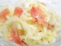 新玉ねぎと生ハムのサラダ