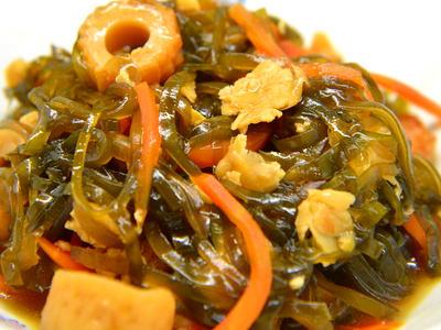 打ち豆と切り昆布の煮物
