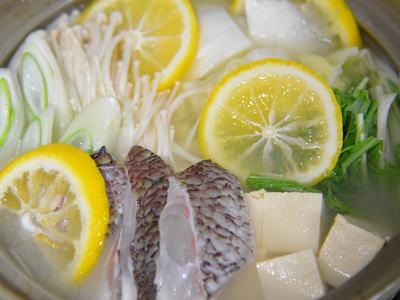鯛の柚子鍋