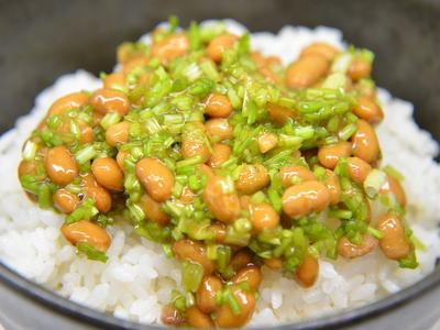 パクチー納豆