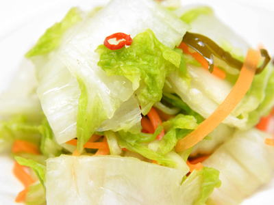 白菜のニンニク漬け