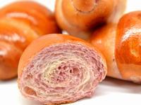 紫芋マーブルバターロール