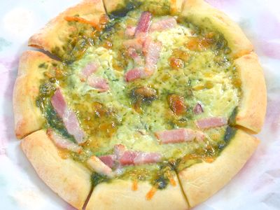 レトルトピザを熱燻製
