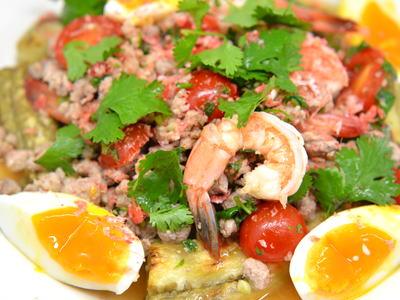 タイの焼き茄子サラダ ヤムマクア