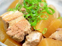 豚バラ味噌煮込み
