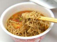 カップ天ぷら蕎麦と鴨だし蕎麦