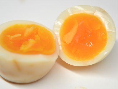 味付きゆで卵の燻製