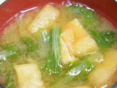 山東菜の味噌汁