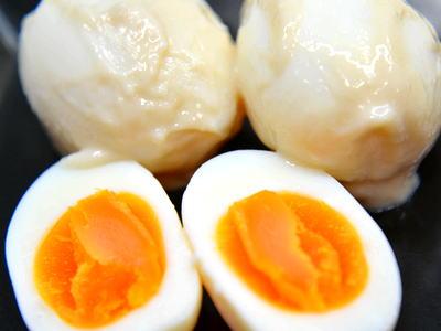 ゆで卵の粕漬け
