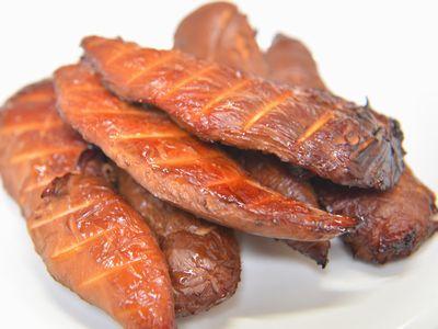 鳥ササミ肉味噌漬け燻製