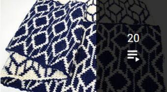 編み物の網方