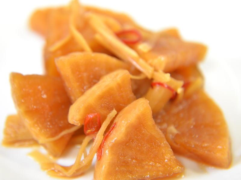 料理初心者でも簡単に作れる、大根の生姜醤油漬け