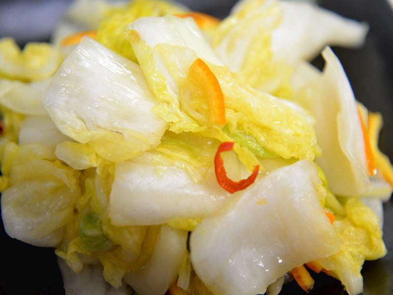 爽やかな風味の、白菜のみかん漬け