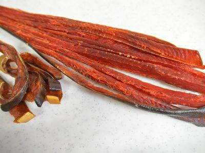 塩鮭のトバ風燻製