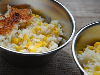 トウモロコシご飯の完成画像